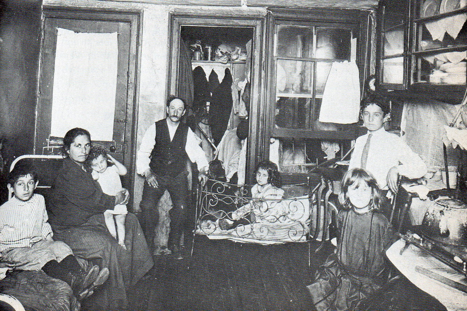 An Italian family in an East Side apartment