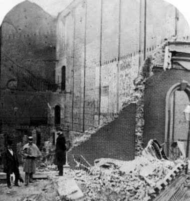 Photo showing the aftermath of the fire