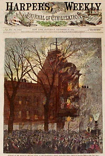 Harper's Weekly cover story of the fire