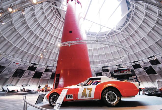 Sky Dome inside National Corvette Museum