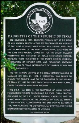Daughters of the Republic of Texas historical marker