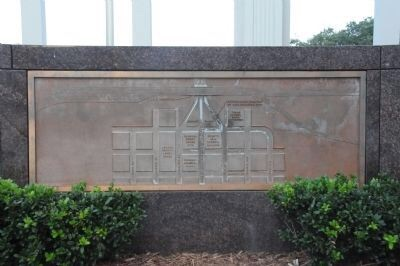 Marker mapping the assassination route in Dealey Plaza