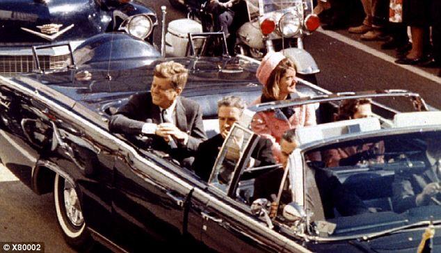 The presidential motorcade on November 22, 1963