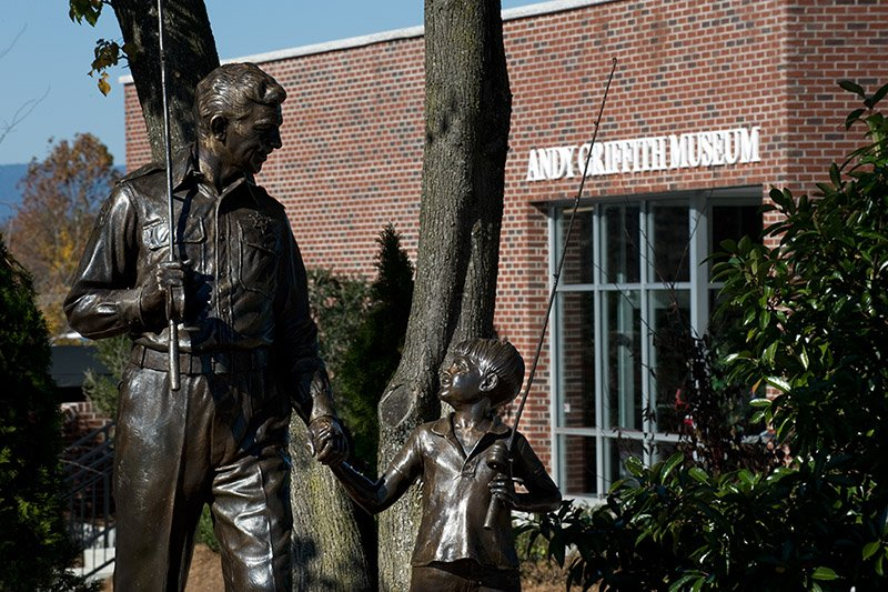 The Andy Griffith Museum has many props and information about The Andy Griffith Show and several other movies staring Andy Griffith.