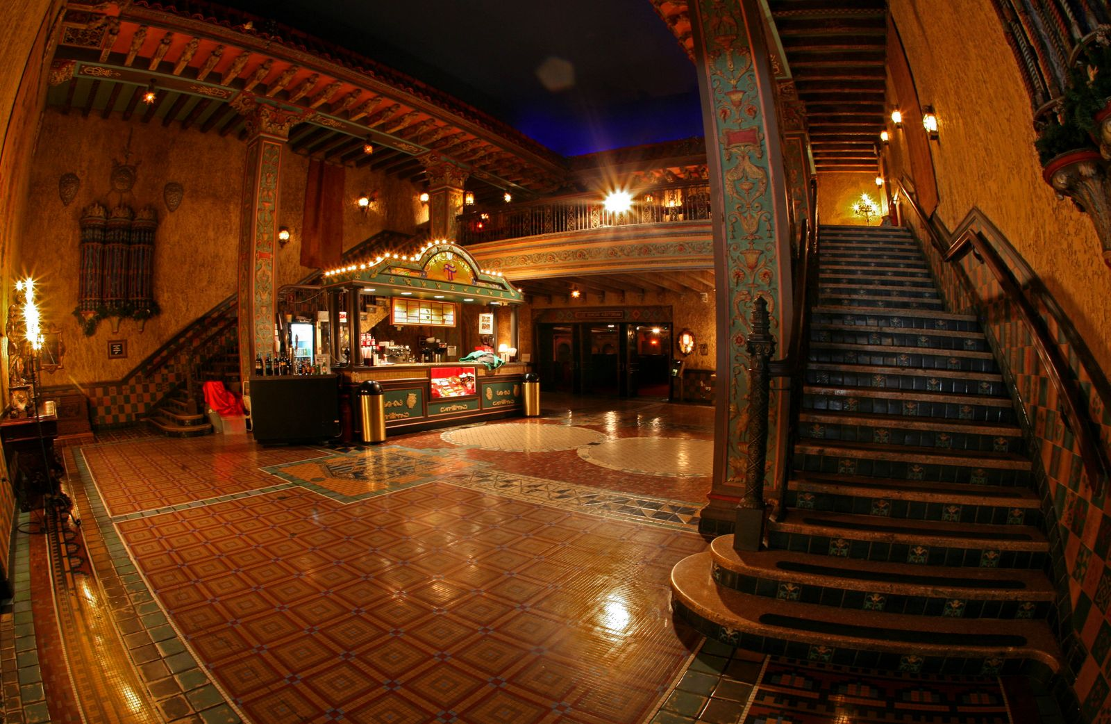 The Tampa Theater lobby