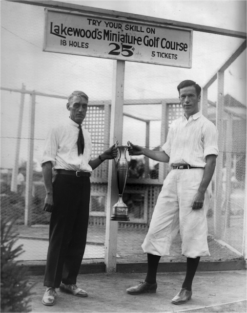 Winners of Minuature Golf in the 1920s. Mattatuck Museum, collection.