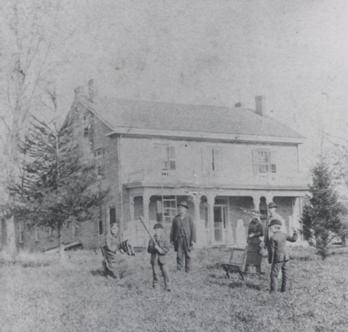 Knapp Family outside the Farm House- Courtesy of Iowa State University Museums