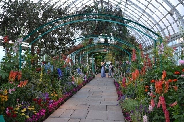 Interior view of the Haupt Conservatory building