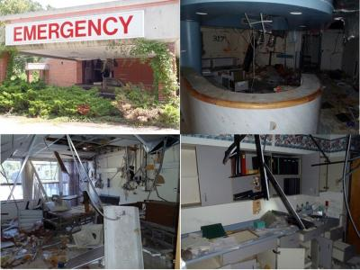 Man Appalachian Regional Hospital deteriorated after it was abandoned.
