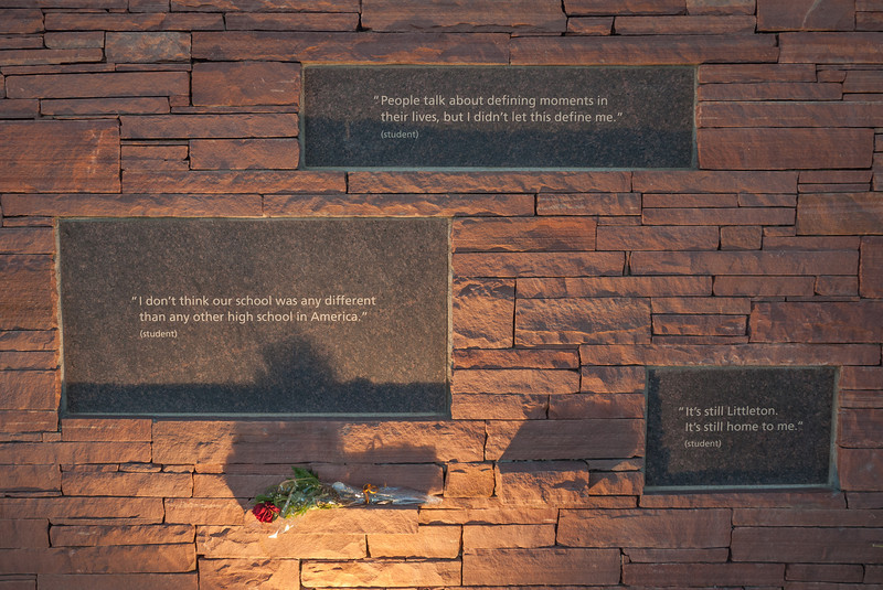 Located on the Wall of Healing, a visitor can read quotes which were given by students in regards to the massacre.