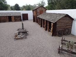 Fort Hall is a replica of the fort that served traders and travelers along the Western trails.