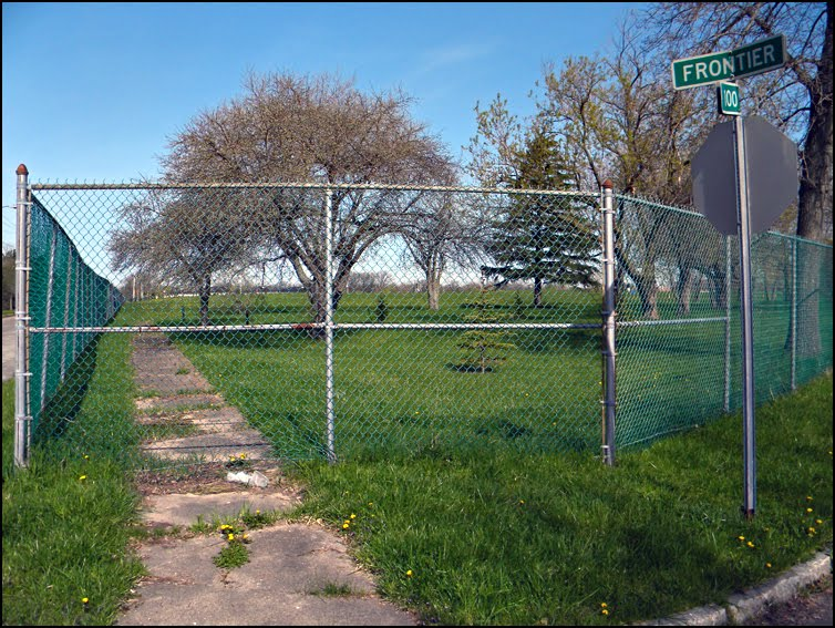 A fenced off portion of Love Canal today