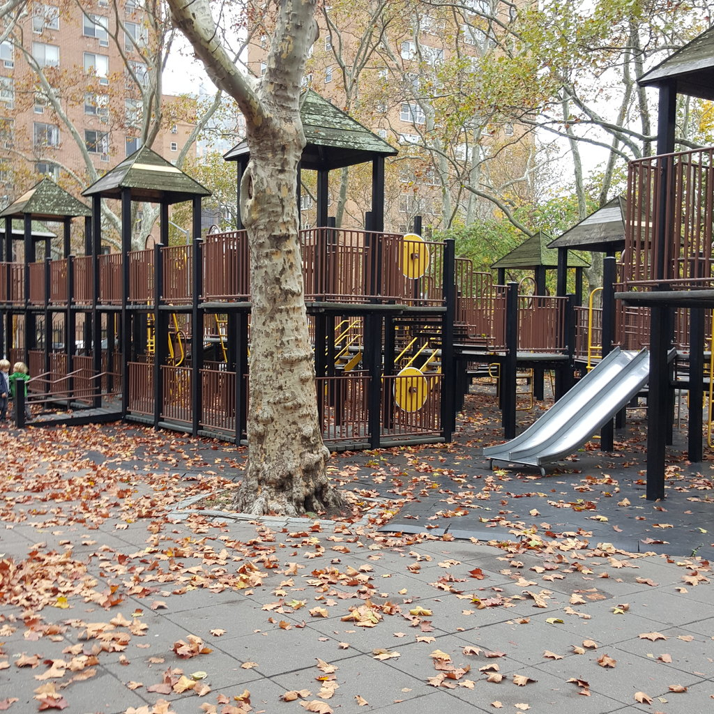 One of the playgrounds in the park.