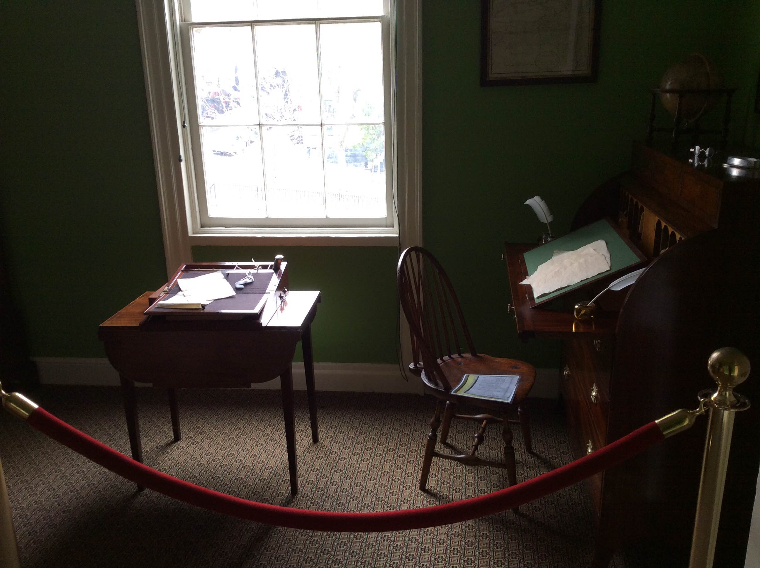 Hamilton's study within the memorial.