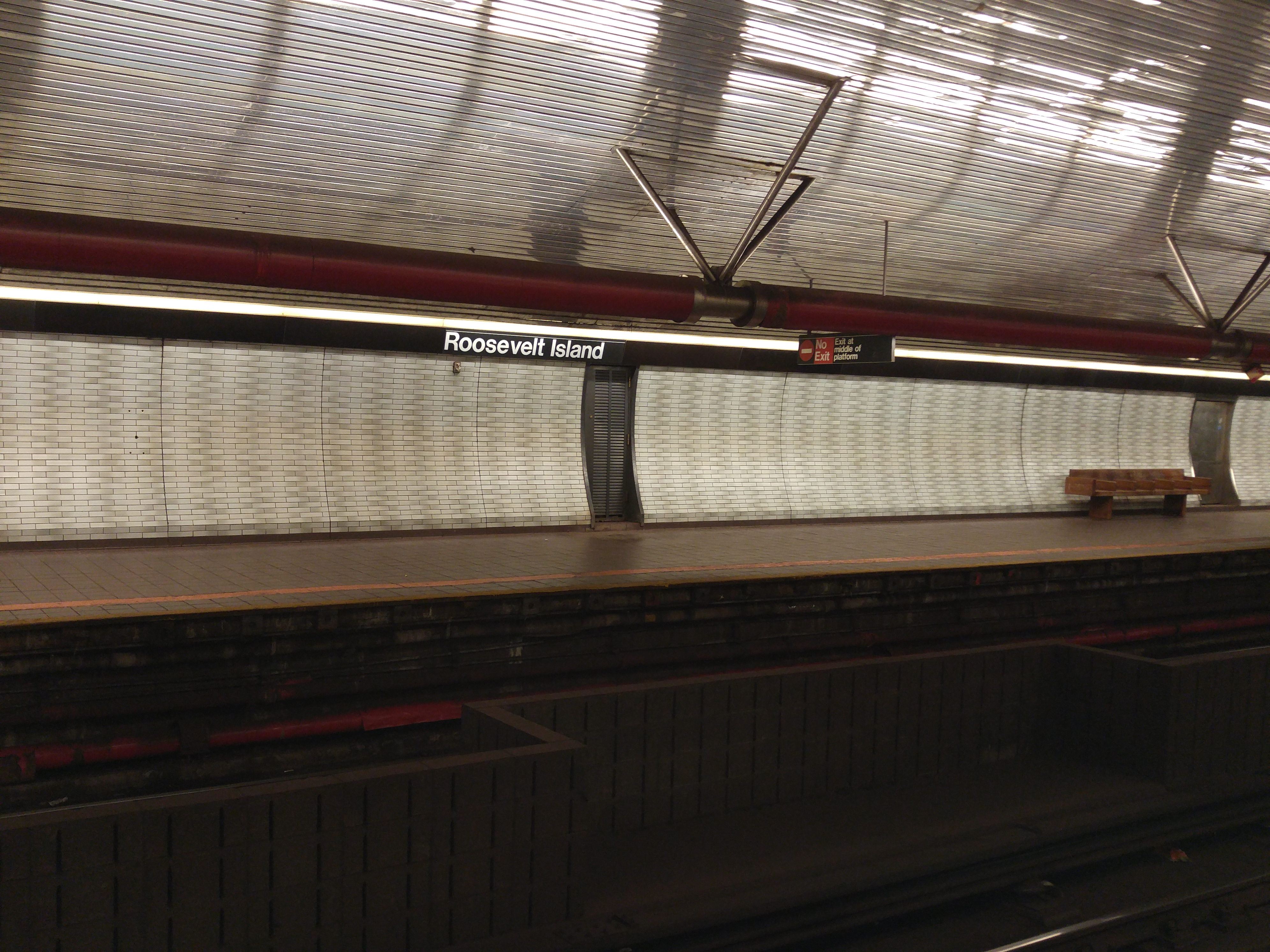 Take the F train to the Roosevelt Island station, one of the deepest in New York.