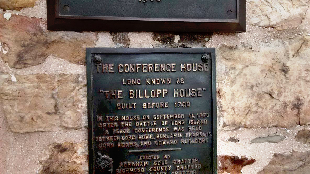 A brief history of the Billop house or Conference house.