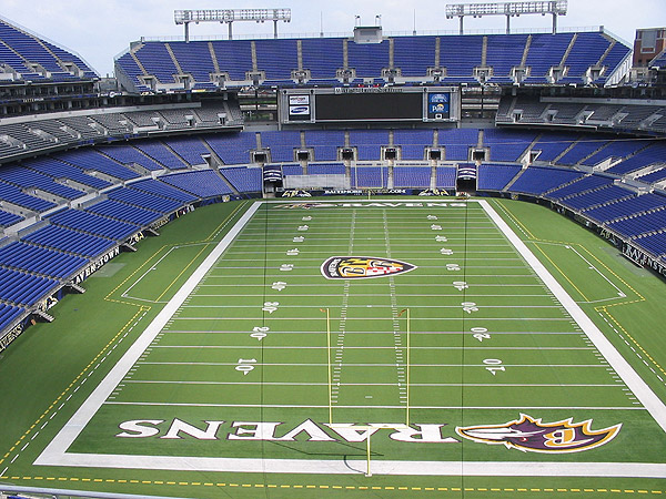 The Baltimore Ravens won the Super Bowl in 2000 and 2012.