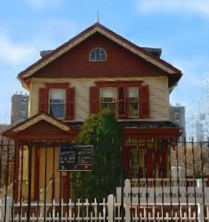 The front of the Lewis H. Latimer House Museum.