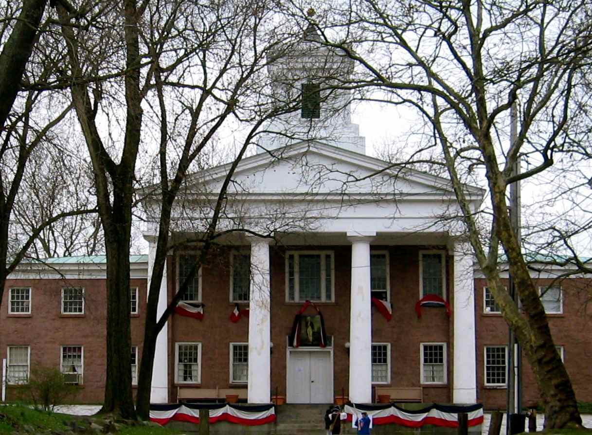 The former county courthouse is now the visitor center.
