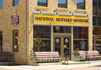 The front of the National Mustard Museum.