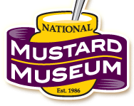The logo of the National Mustard Museum.