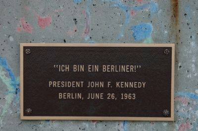 A quote from President Kennedy in Berlin