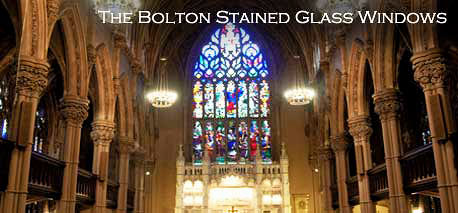 The church is famous for its stained glass windows that total seven thousand square feet of painted glass.