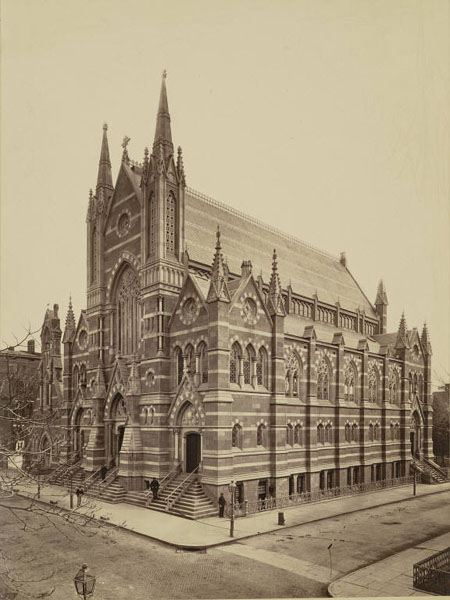 The church was completed in 1848. This undated photograph of the church was taken in the mid-20th century.