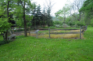 The grounds of the Hale home as it looked before it was reconstructed earlier this year.