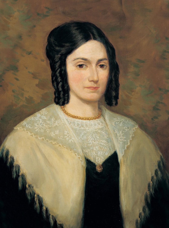 late 1830s portrait of Emma Hale Smith