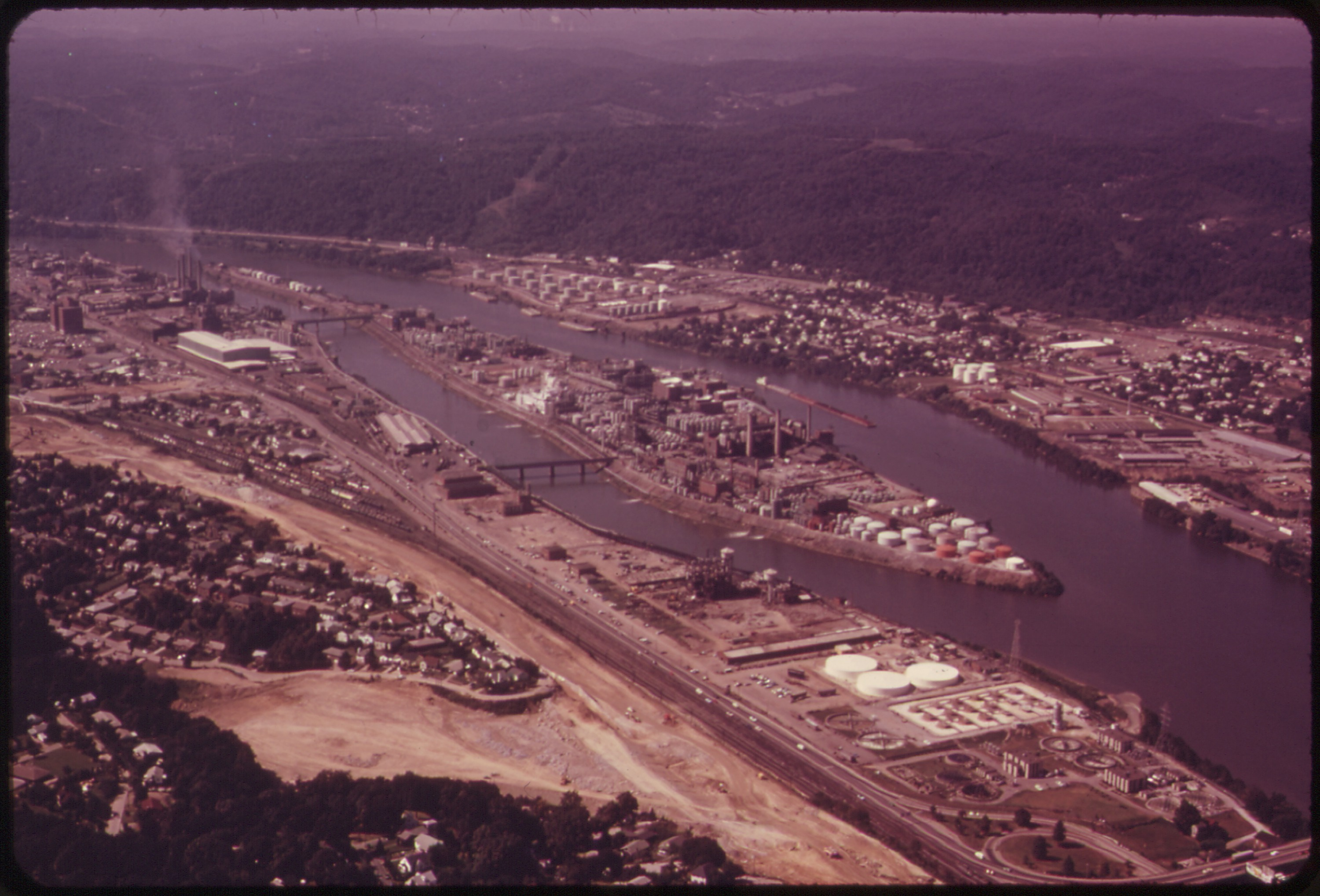 Photo of Blaine Island in the 1970s.