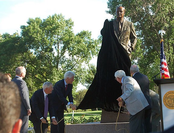 Dignitaries at the unveiling of the Hubert Humphrey Memorial Statue