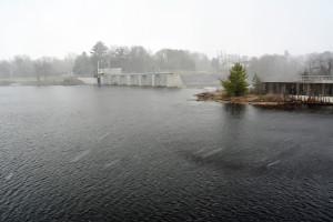 Hydroelectric Dam on the Black River were a sawmill once stood