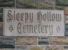 Sleepy Hollow Cemetery sign
