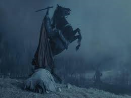 The headless horseman as depicted in the movie Sleepy Hollow.