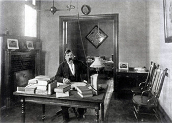William S. Pattee, the Law School's first dean and the namesake of Pattee Hall, in his office