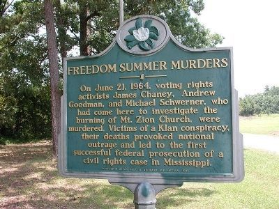 This historical marker commemorates the lives of the three civil rights workers and the way that their deaths served as a turning point in the Civil Rights Movement.
