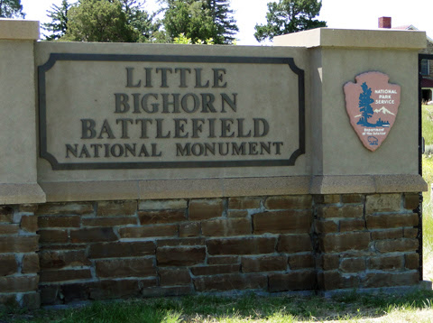 The Little Bighorn Battlefield National Monument is located near the town of Crow Agency in Montana.