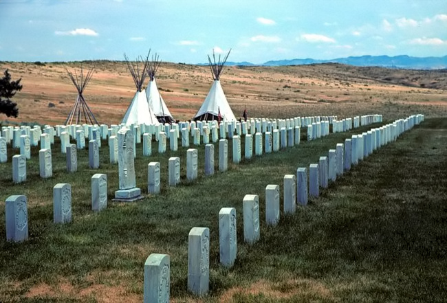 Custer National Cemetery is adjacent to the National Monument that includes many frontiersmen, Native scouts, and other military personnel.