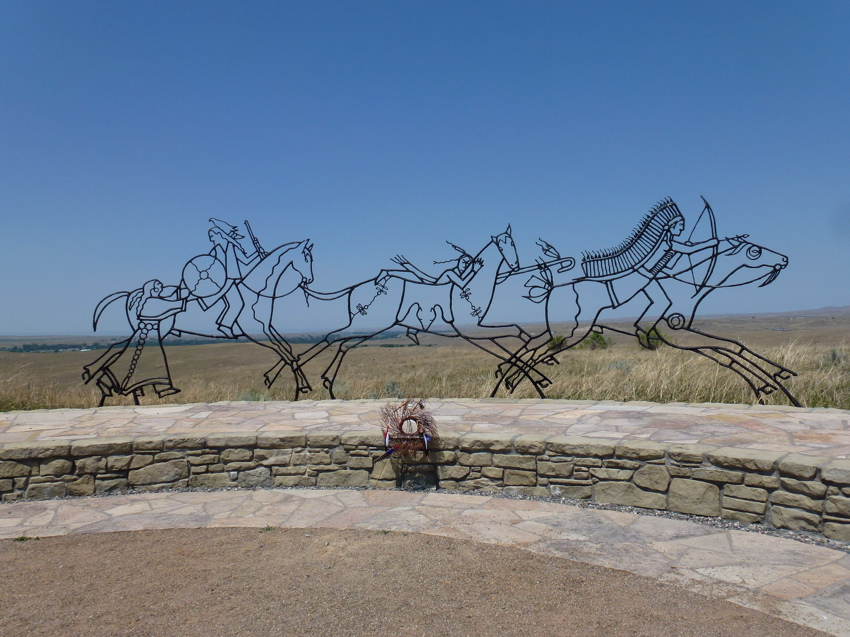 The Native American Memorial commemorates the Plains Indians and their struggle to preserve their lands and their way of life.