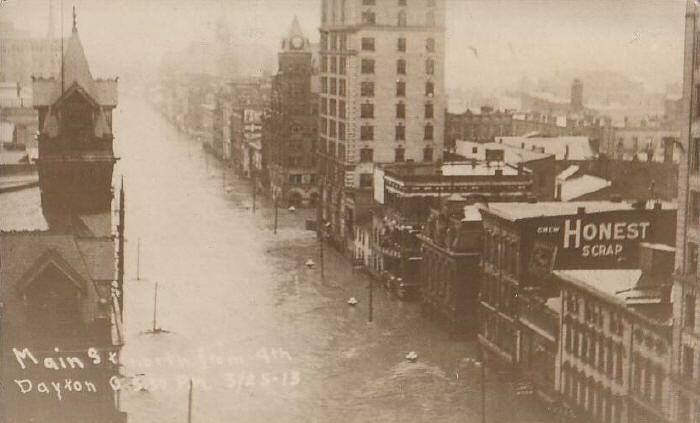 Main Street during the flood
