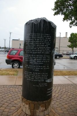 Another view of the marker. Photo by Busta-Peck.