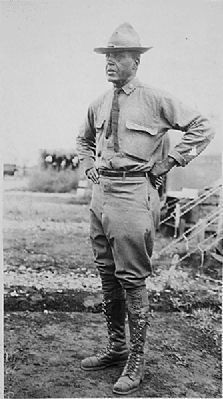 A photo of Colonel Charles Young in Mexico in 1916.