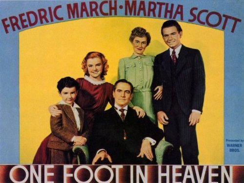 """Poster for """"One Foot In Heaven"""" -- the first film to play at the LaBelle Theater after it opened."""