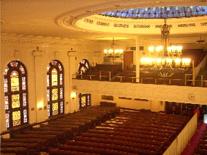 Ocean Parkway Jewish Center holds traditional orthodox services in its sanctuary each Saturday morning