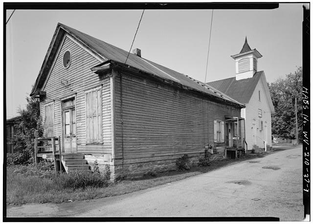 Looking southwest at Malden Baptist Church, 1980