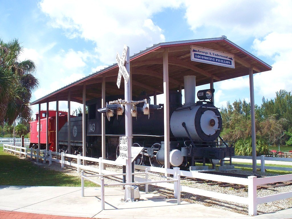 One of the locomotives on display at the museum