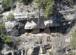 Closer view of a cliffside dwelling