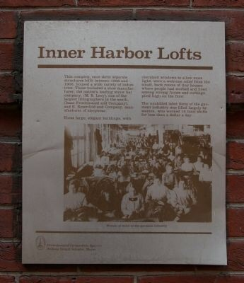Inner Harbor Lofts historical marker