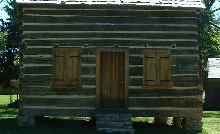 The Navarre Cabin, at Leeper Park.